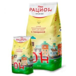 НАШ РАЦИОН Сух.корм д/взр.собак Говядина 15кг