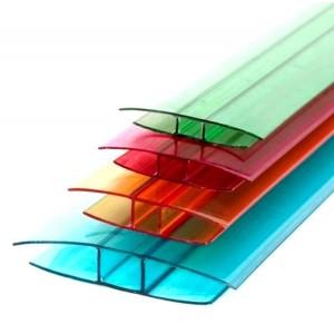 Профиль для поликарбоната  соединительный цветной 10мм 6000мм