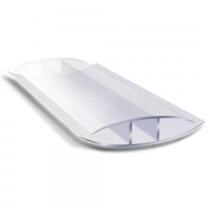 Профиль для поликарбоната  соединительный прозрачный 10мм 6000мм